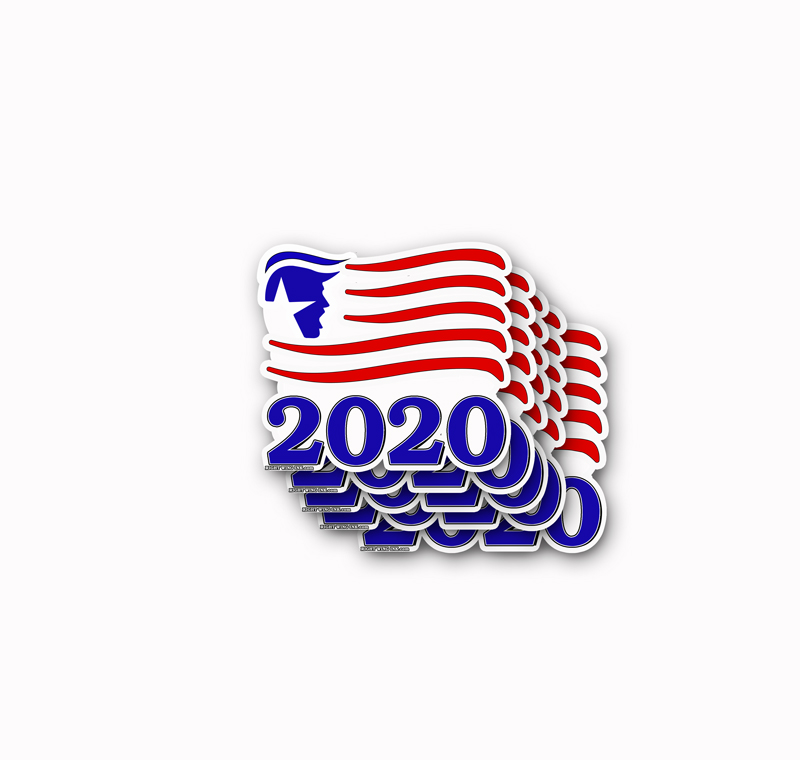 TRUMP-2020 Flag Decal Stickers 5 pack
